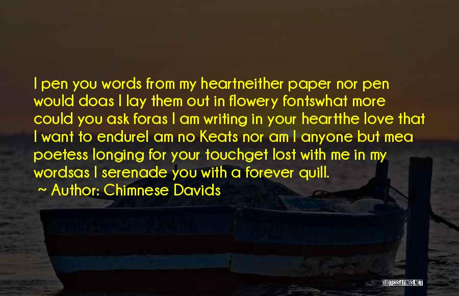 Love You Forever More Quotes By Chimnese Davids