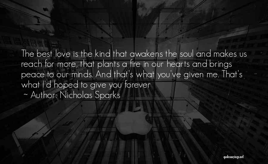 Love You Forever More Quotes By Nicholas Sparks