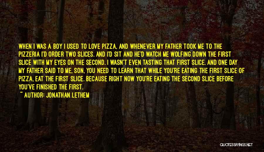 Love You My Boy Quotes By Jonathan Lethem