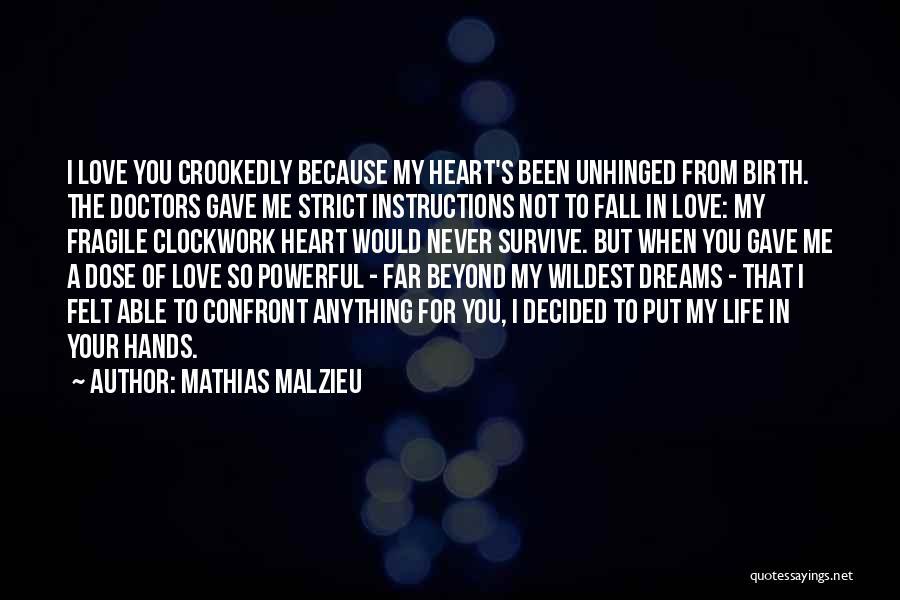 Love You My Boy Quotes By Mathias Malzieu