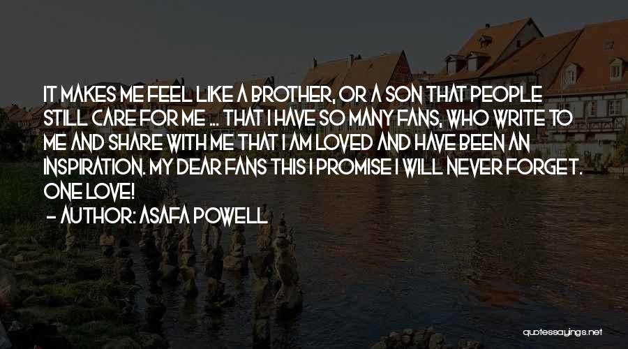 Loved One Quotes By Asafa Powell