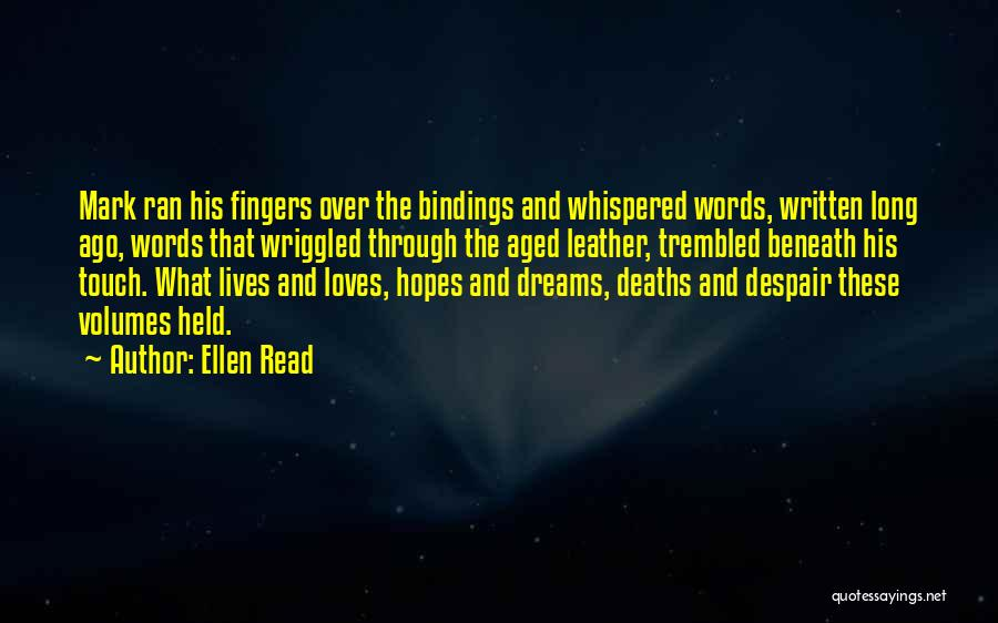 Lovers Touch Quotes By Ellen Read