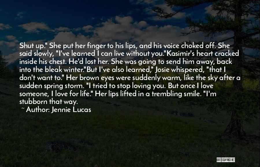 Loving His Smile Quotes By Jennie Lucas