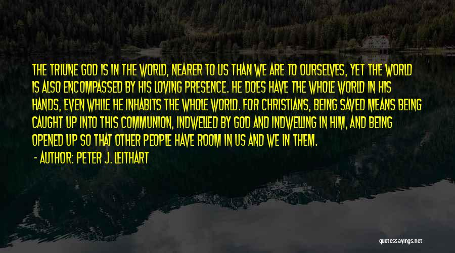 Loving Jesus Quotes By Peter J. Leithart