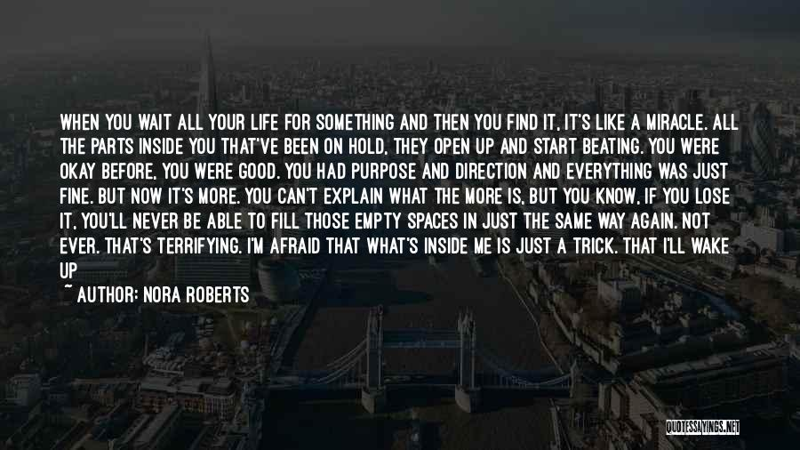 Loving Life Again Quotes By Nora Roberts