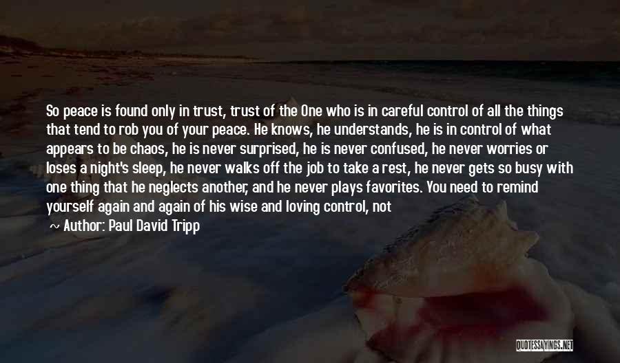 Loving Life Again Quotes By Paul David Tripp