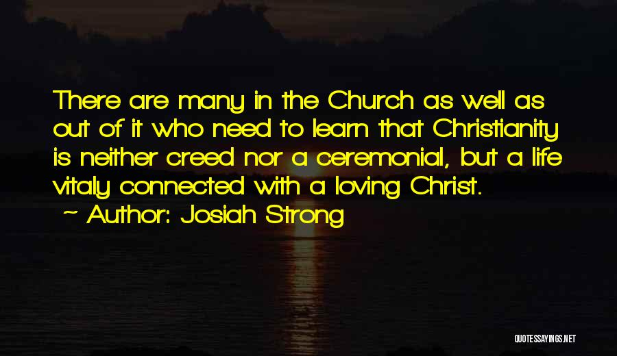 Loving Life As It Is Quotes By Josiah Strong