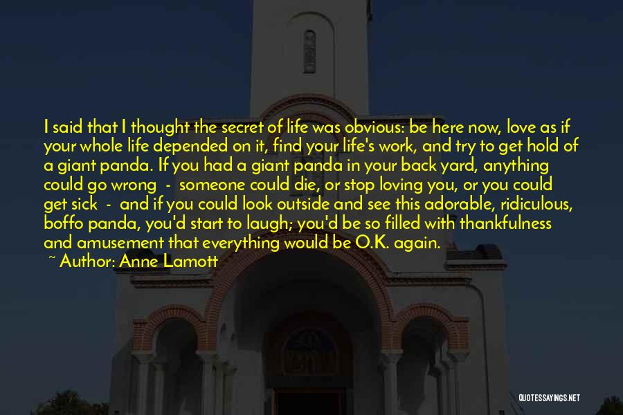 Loving Life Now Quotes By Anne Lamott