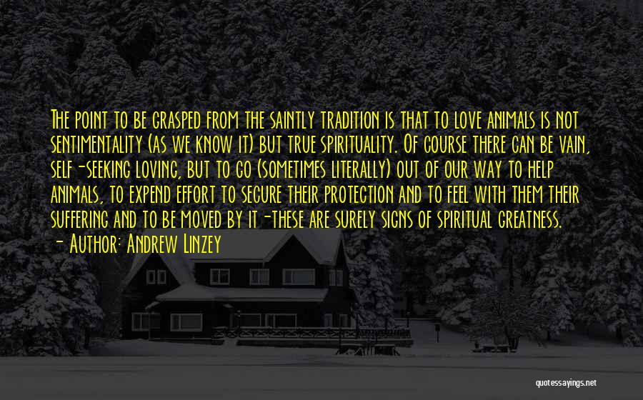 Loving Nature Quotes By Andrew Linzey