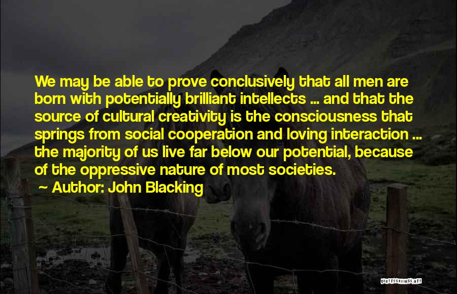Loving Nature Quotes By John Blacking