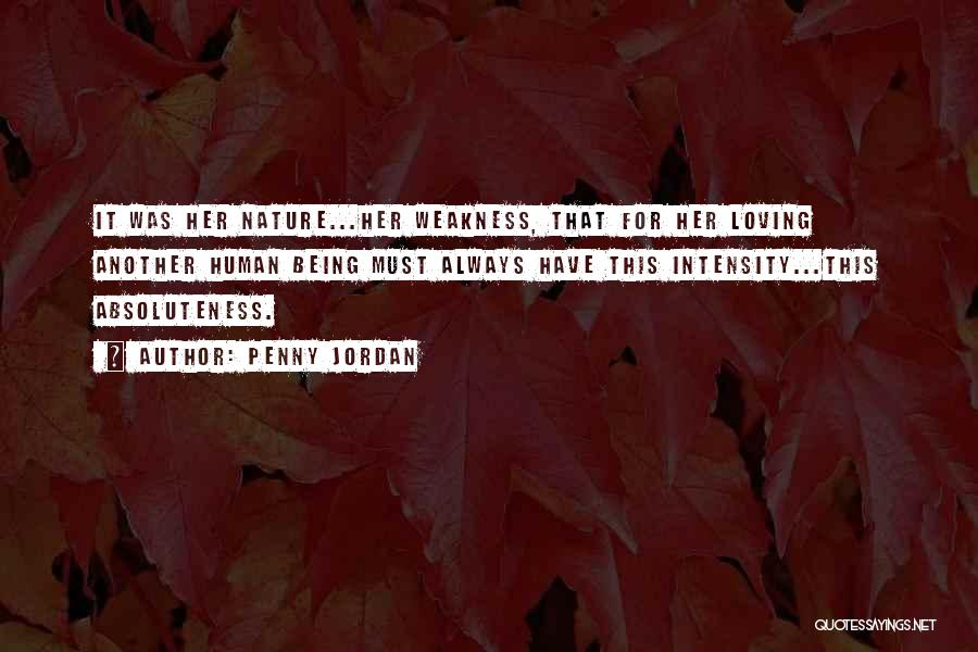 Loving Nature Quotes By Penny Jordan