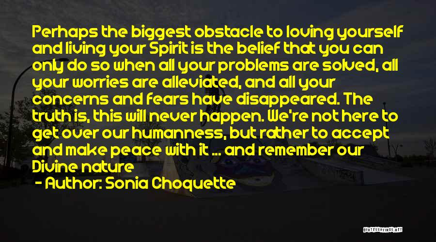Loving Nature Quotes By Sonia Choquette