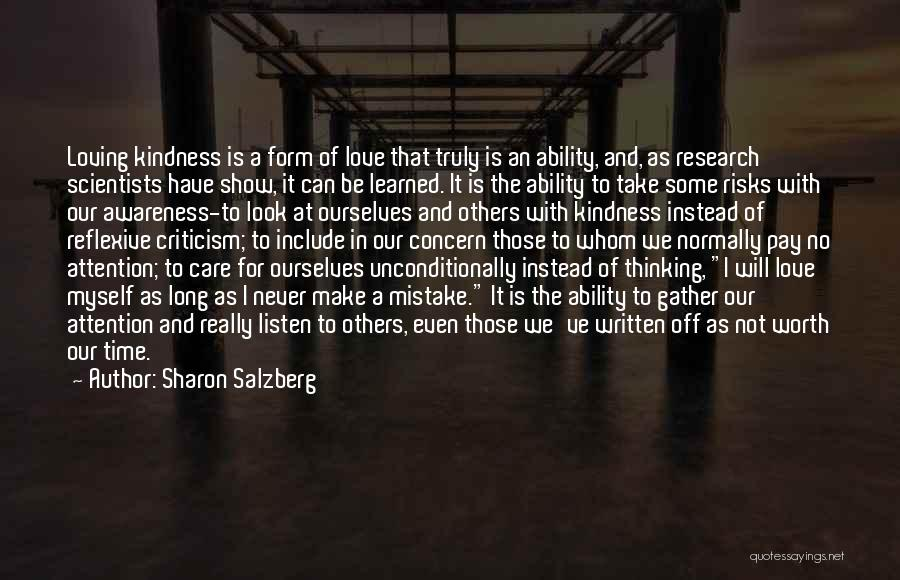 Loving Someone You Don't Know Quotes By Sharon Salzberg