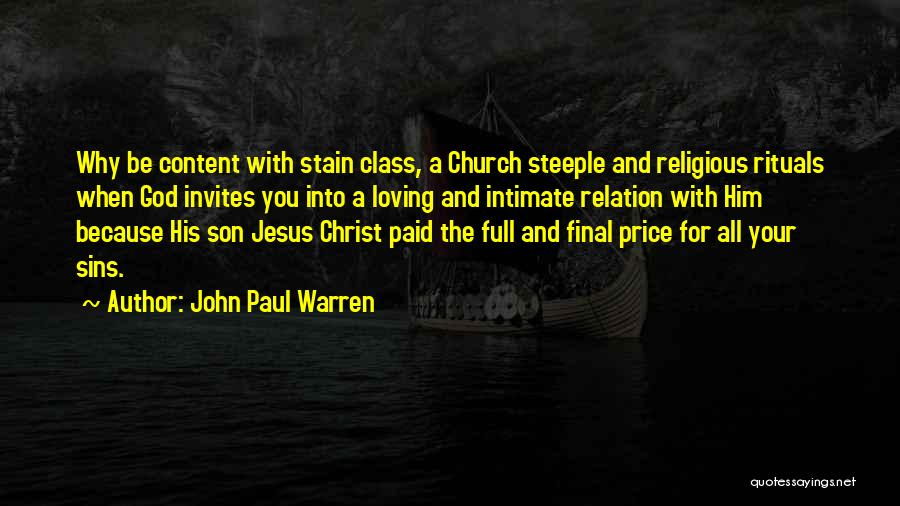 Loving Son Quotes By John Paul Warren