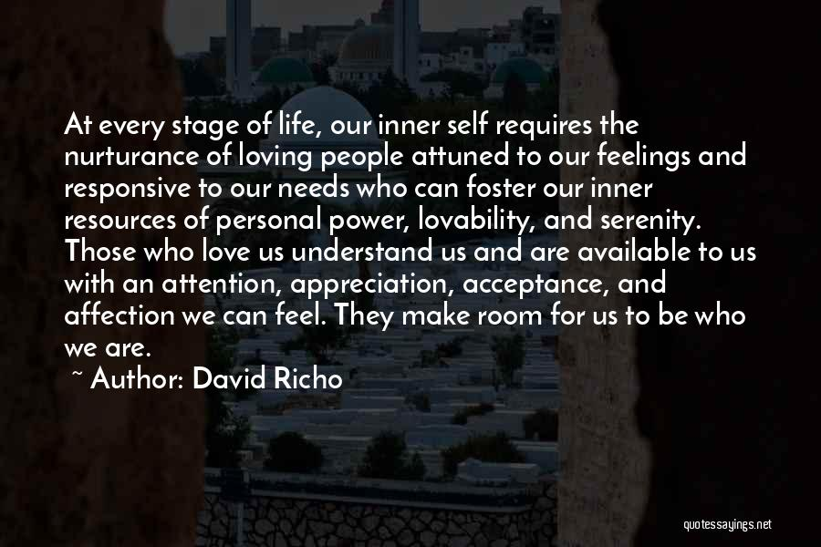 Loving Your Inner Self Quotes By David Richo