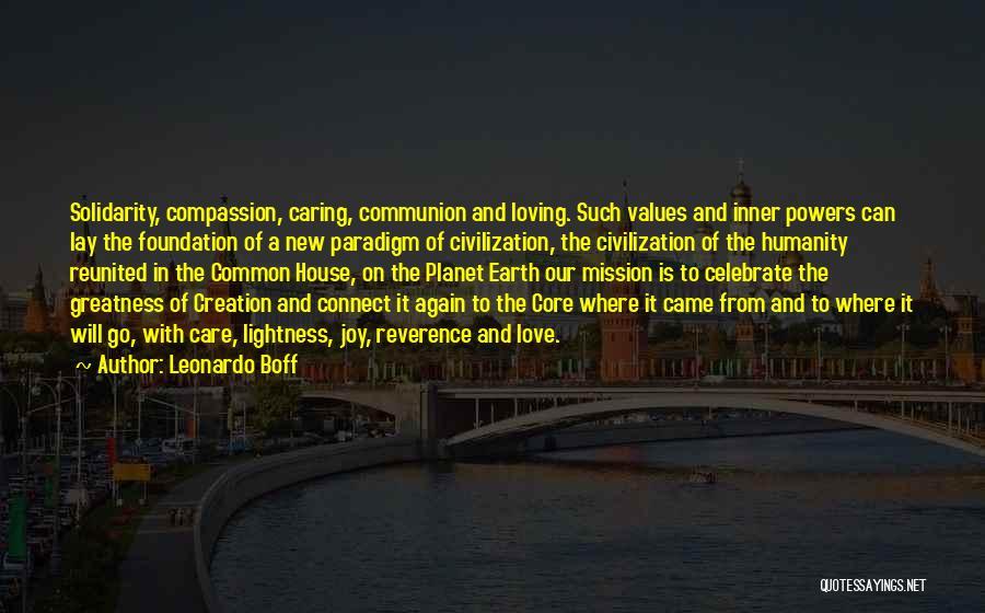 Loving Your Inner Self Quotes By Leonardo Boff