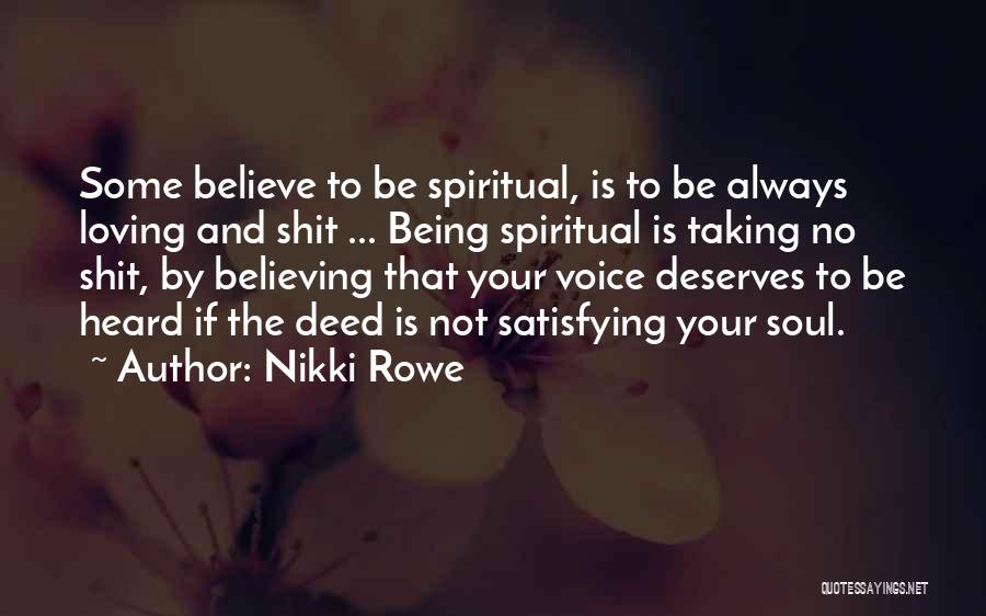 Loving Your Inner Self Quotes By Nikki Rowe