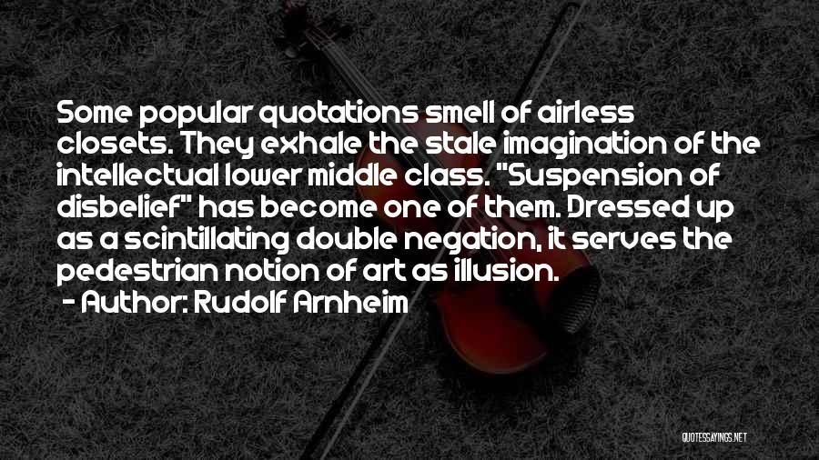 Lower Double Quotes By Rudolf Arnheim