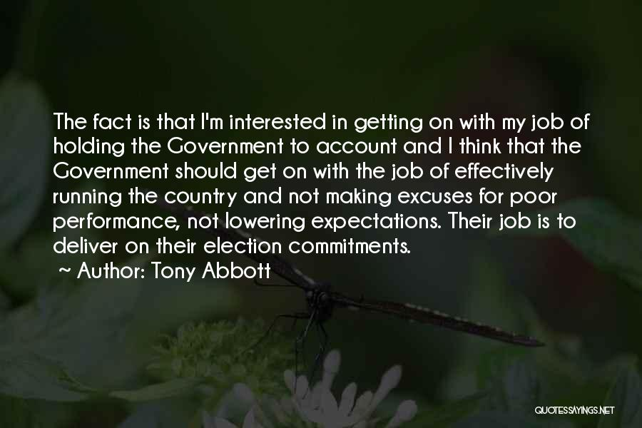 Lowering Expectations Quotes By Tony Abbott