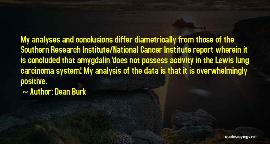 Lung Cancer Quotes By Dean Burk