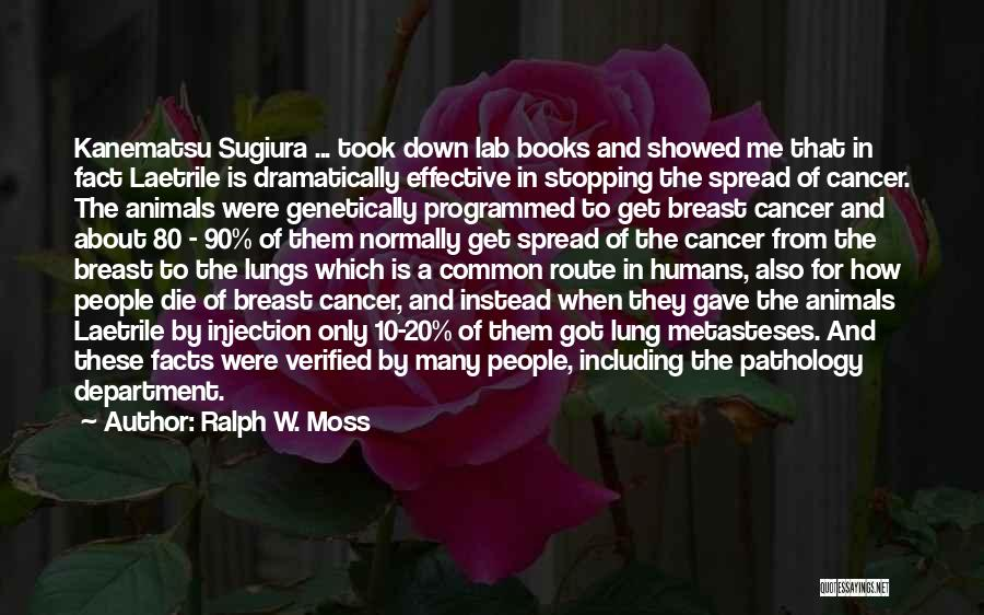 Lung Cancer Quotes By Ralph W. Moss