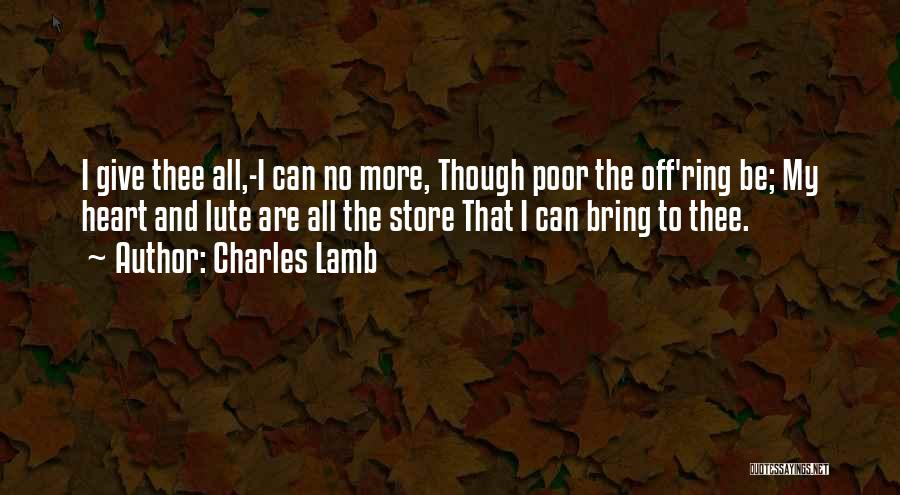 Lute Quotes By Charles Lamb