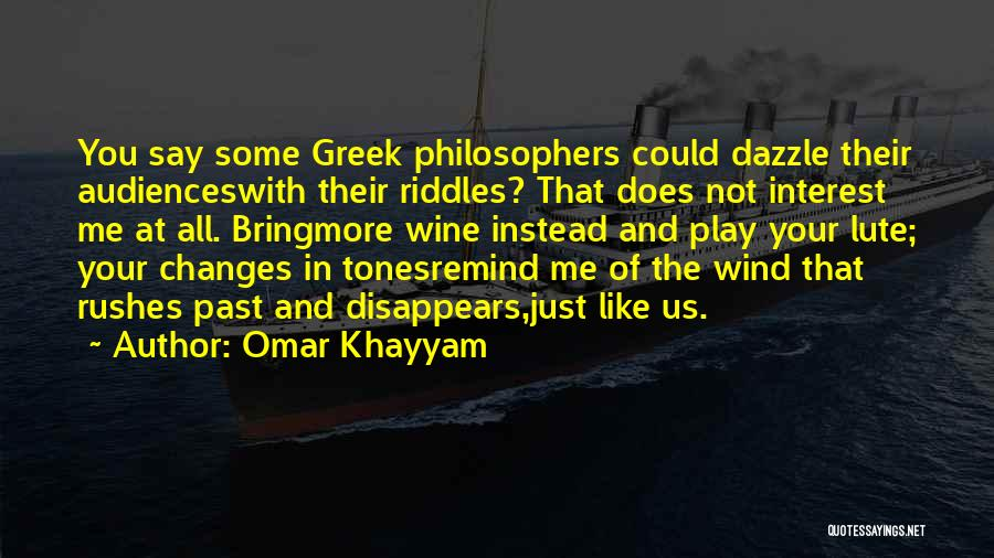 Lute Quotes By Omar Khayyam