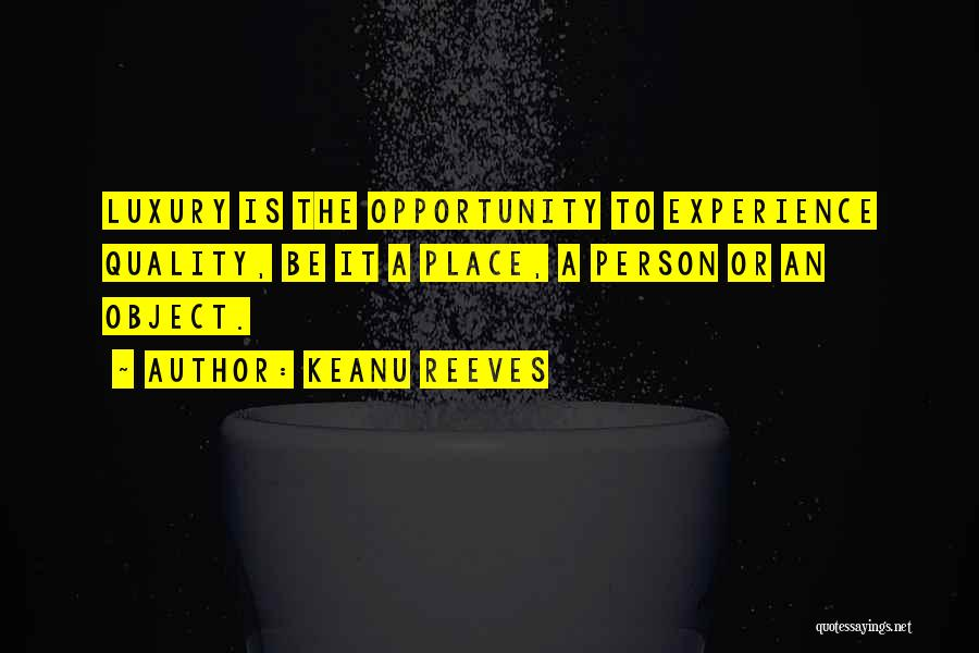 Luxury Fashion Quotes By Keanu Reeves