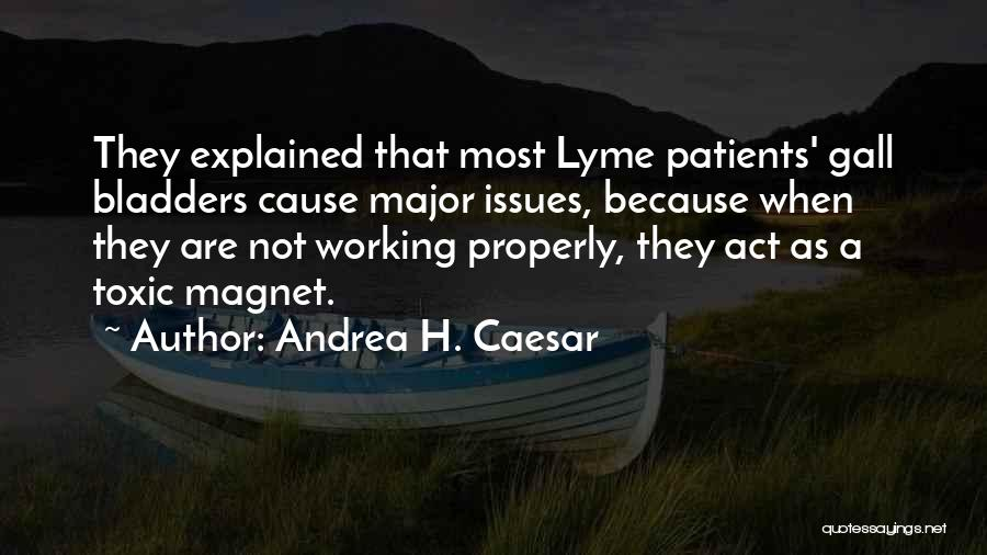 Lyme Quotes By Andrea H. Caesar