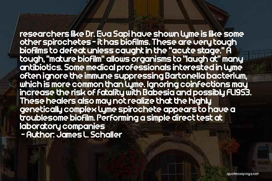 Lyme Quotes By James L. Schaller