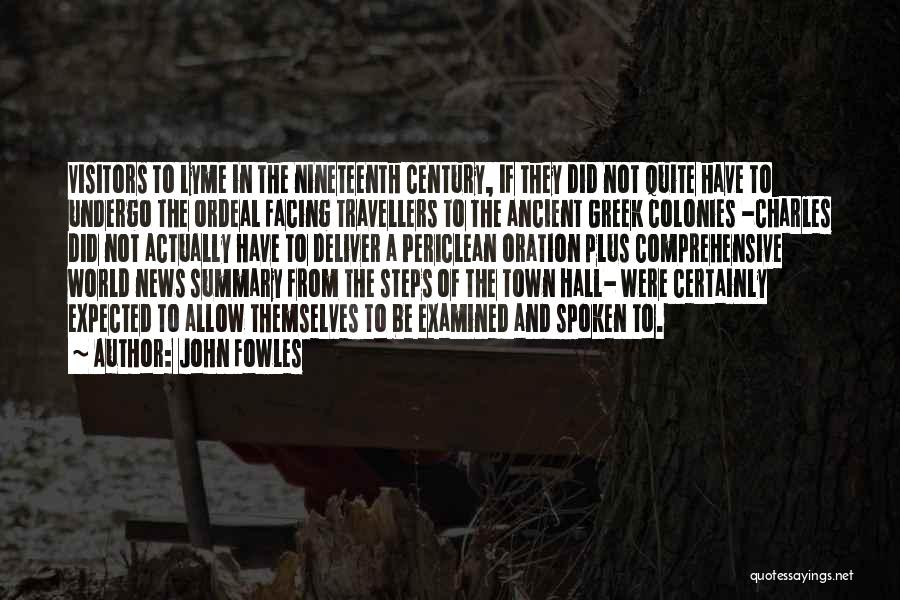 Lyme Quotes By John Fowles