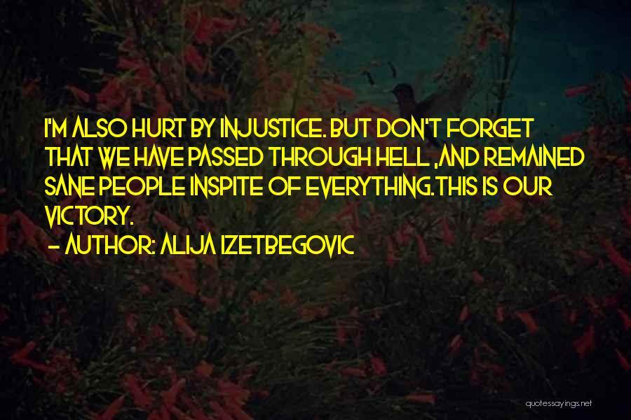 M Hurt Quotes By Alija Izetbegovic