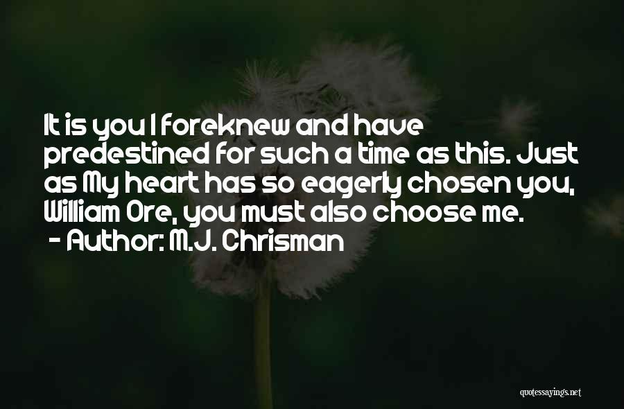 M.J. Chrisman Quotes 1770296