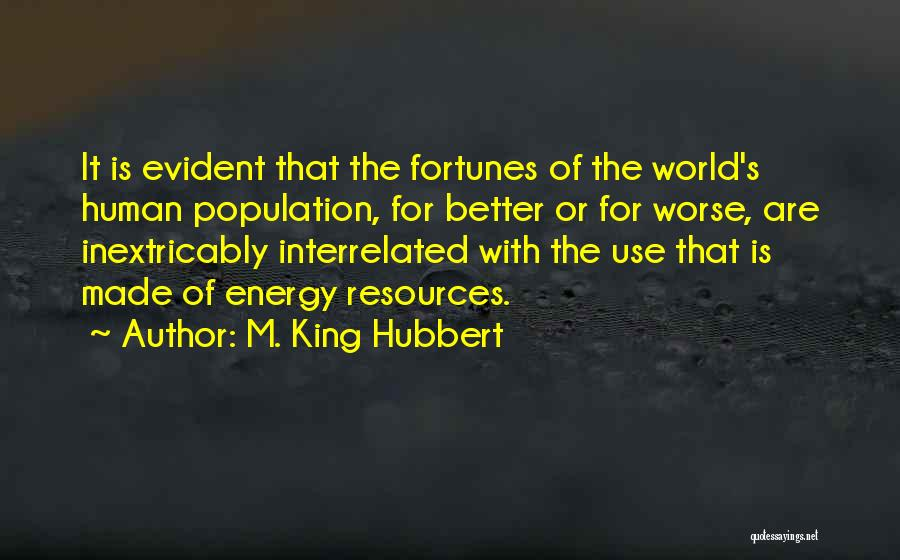 M. King Hubbert Quotes 1260591