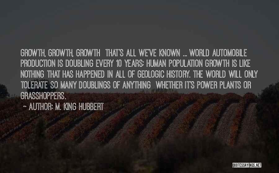 M. King Hubbert Quotes 1551026