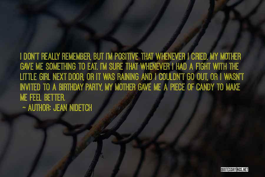 M&m Candy Quotes By Jean Nidetch