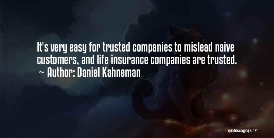 M&s Life Insurance Quotes By Daniel Kahneman