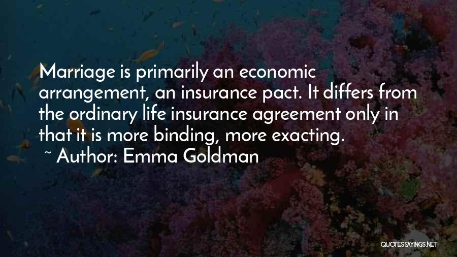 M&s Life Insurance Quotes By Emma Goldman
