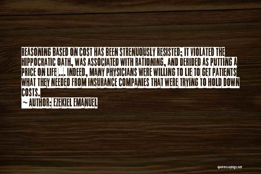 M&s Life Insurance Quotes By Ezekiel Emanuel