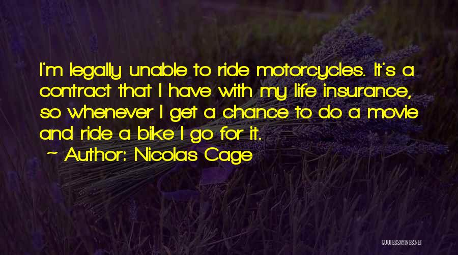 M&s Life Insurance Quotes By Nicolas Cage