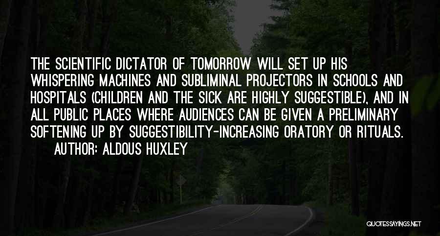 Machines Quotes By Aldous Huxley