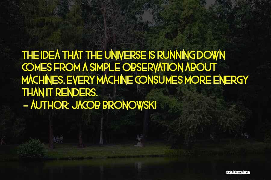 Machines Quotes By Jacob Bronowski