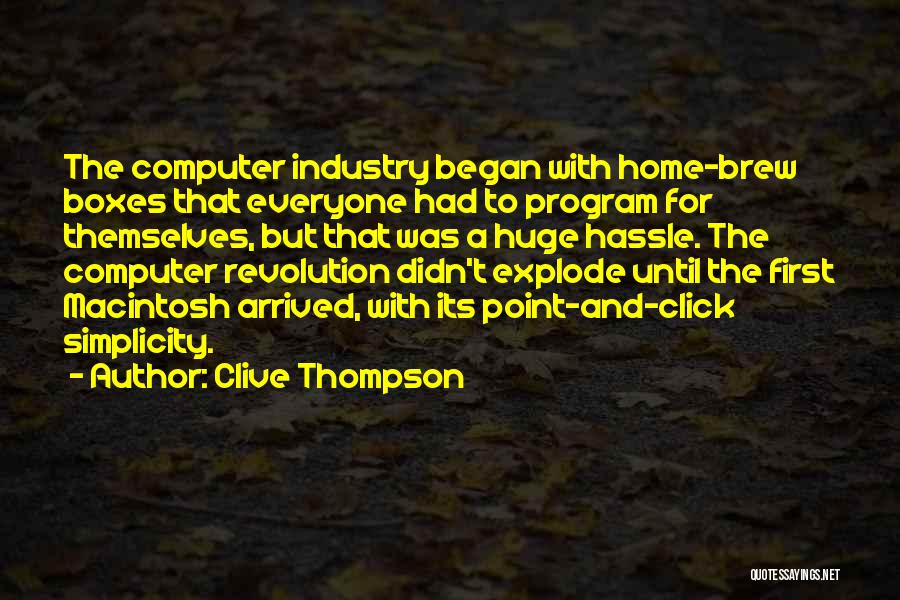 Macintosh Quotes By Clive Thompson