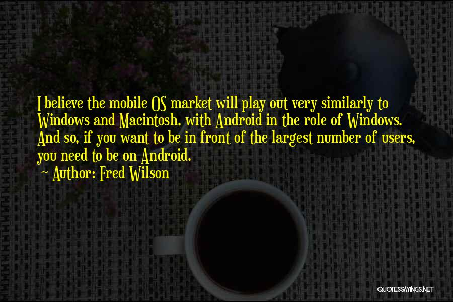 Macintosh Quotes By Fred Wilson