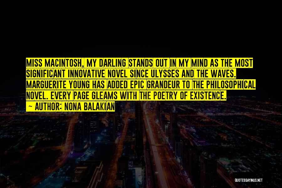 Macintosh Quotes By Nona Balakian