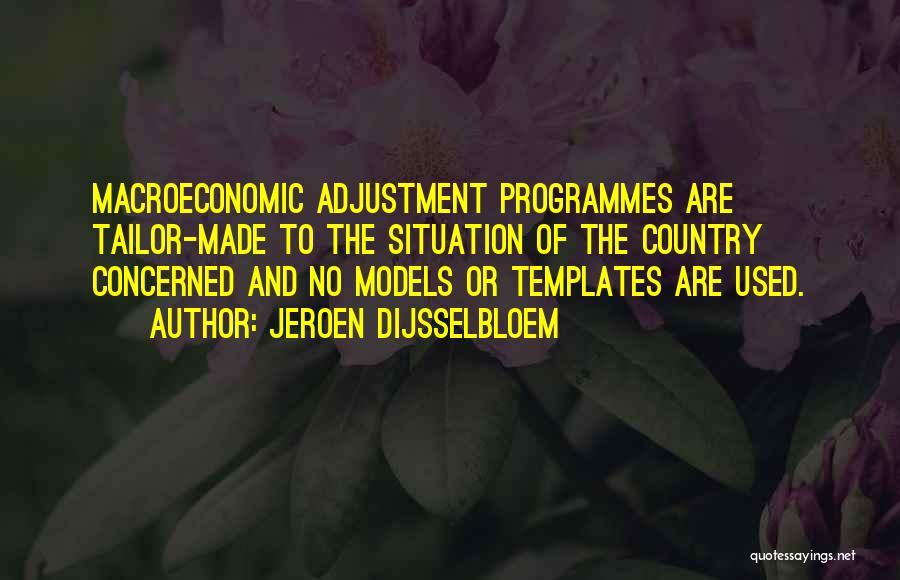 Macroeconomic Quotes By Jeroen Dijsselbloem