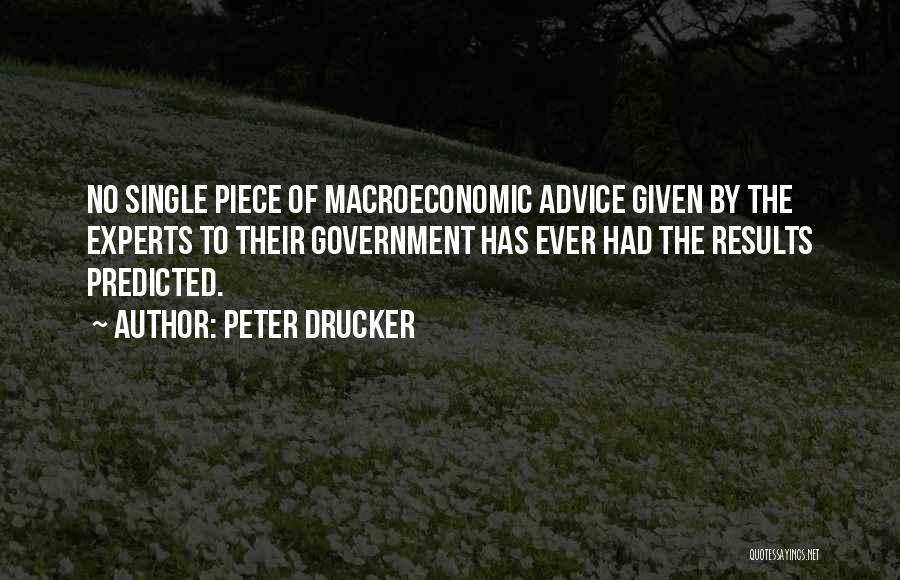 Macroeconomic Quotes By Peter Drucker