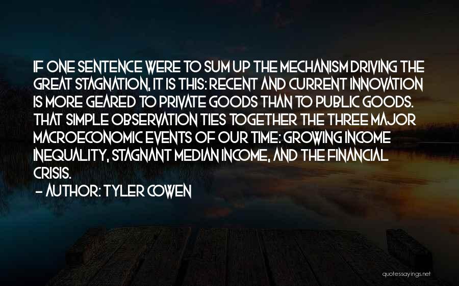Macroeconomic Quotes By Tyler Cowen