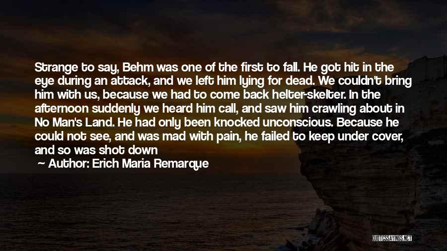 Mad Eye Quotes By Erich Maria Remarque
