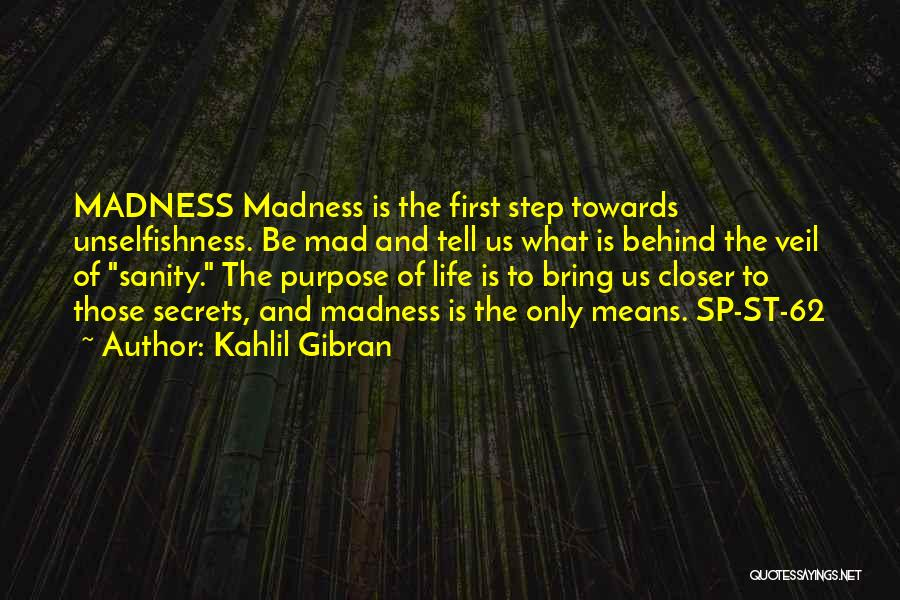 Madness And Sanity Quotes By Kahlil Gibran
